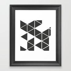 T R I _ N G L S (BLK) Framed Art Print