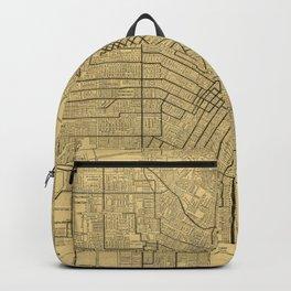 Vintage Map of Los Angeles CA (1914) Backpack