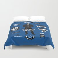 derek hale Duvet Covers featuring Derek Hale Quotes Teen Wolf by Alice Wieckowska
