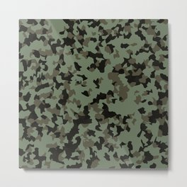 Swamp Camouflage Pattern Metal Print