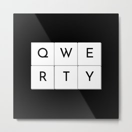 QWERTY Metal Print
