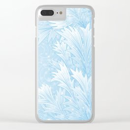 Winter background Clear iPhone Case
