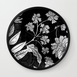 Porcelan Posies Wall Clock