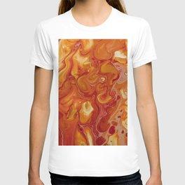 Japanese Magma Lava Marble Art T-shirt
