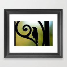 Bird on the Ironwork Framed Art Print