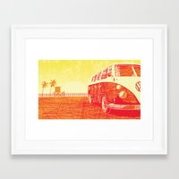 vw bus Framed Art Prints featuring VW Bus - Transportation Series by Tubes