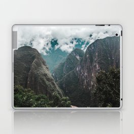 Blue morning mist over the Andes mountains and river near Machu Picchu, Peru Laptop & iPad Skin