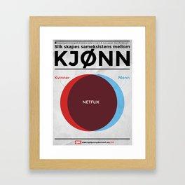 Sameksistens mellom kjønn Framed Art Print