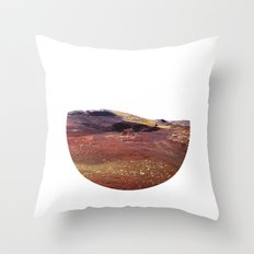 Rainbow rocks, Iceland Throw Pillow