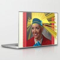lara croft Laptop & iPad Skins featuring Lara by Robert Cooper