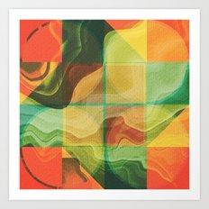 Abstract artwork Art Print
