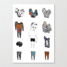 Paperdoll #3 Canvas Print