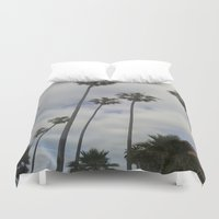 san diego Duvet Covers featuring San Diego Palm Trees by VivianaSavir
