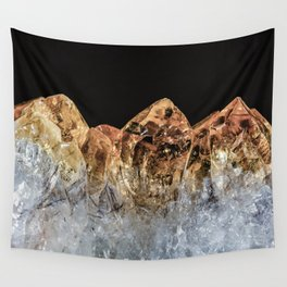 Fire and Ice Citrine crystals Wall Tapestry