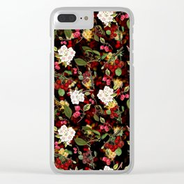 Cherries with Blossoms Clear iPhone Case