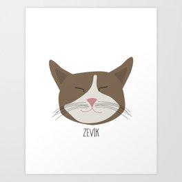 Family Cat Portraits, Zevik Art Print