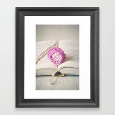 Bookmark Framed Art Print