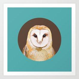 Endless Gaze: Barn Owl Art Print
