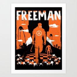 The Freeman / Gordon Half-life orange box Art Print