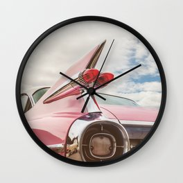 The Pink American Classic Car Wall Clock