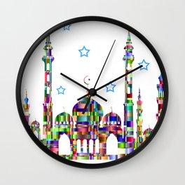 City of Jewel Tones Wall Clock
