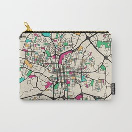 Colorful City Maps: Raleigh, North Carolina Carry-All Pouch