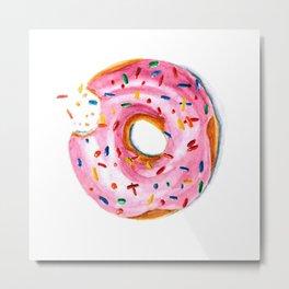 Bitten doughnut Metal Print