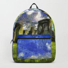 Stonehenge Vincent Van Gogh Backpack