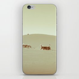 Sled dogs iPhone Skin