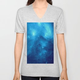 Blue Galaxy : Pleiades Star Cluster nebUla Unisex V-Neck