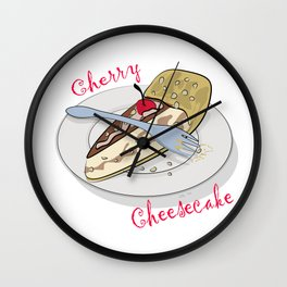 National Cheese Cake Day Wall Clock