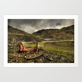 Industrial Remains  Art Print