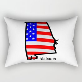 Alabama Stars and Stripes Rectangular Pillow