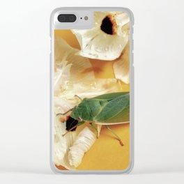 Friendly Green Cicada Clear iPhone Case