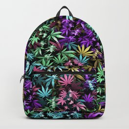 Psychedelic weed Backpack