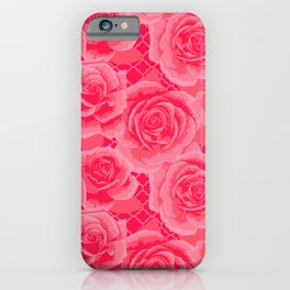 Pink Painted Roses iPhone Case