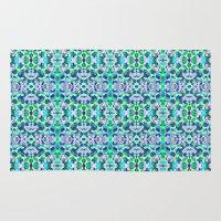 kaleidoscope Area & Throw Rugs featuring kaleidoscope by Isabella Salamone