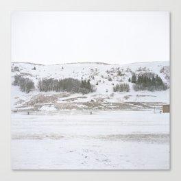 Sauðárkrókur Hill Canvas Print