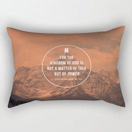 1 Corinthians 4:20 Rectangular Pillow
