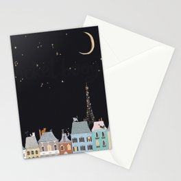 Cats in Paris Stationery Cards