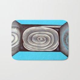 Metal rose illusion Bath Mat