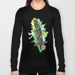 Aboriginal Art - Wetland Feather Long Sleeve T-shirt