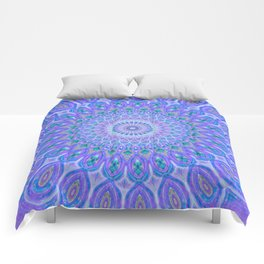 Lights Of Avatar Mandala - Faded Comforters