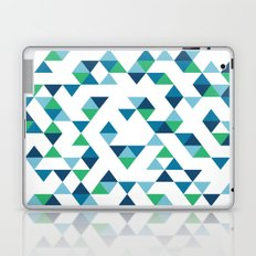Triangles Blue and Green Laptop & iPad Skin