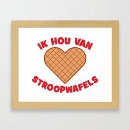 Ik Hou Van Stroopwafels Framed Art Print