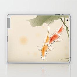 Koi fishes in lotus pond Laptop & iPad Skin