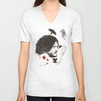 snow V-neck T-shirts featuring Snow by Danny Haas