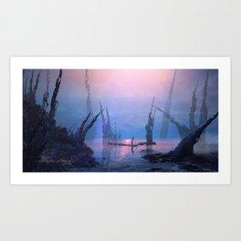 Ancient Lake Art Print