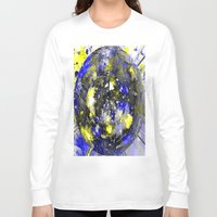 white marble Long Sleeve T-shirts featuring marble by donphil
