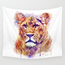 Lioness Head Wall Tapestry